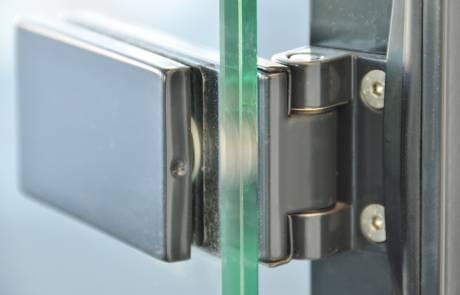 41al accessori per partizioni fisse in vetro (cerniera)