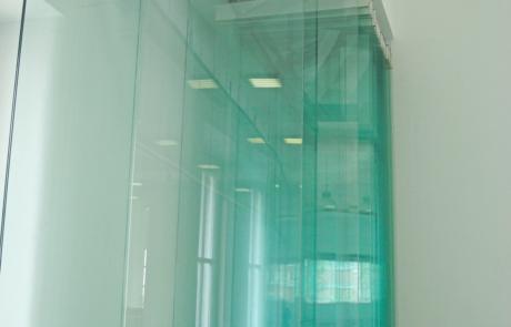 CONI-Rome- sistema parcheggiabile in vetro temprato