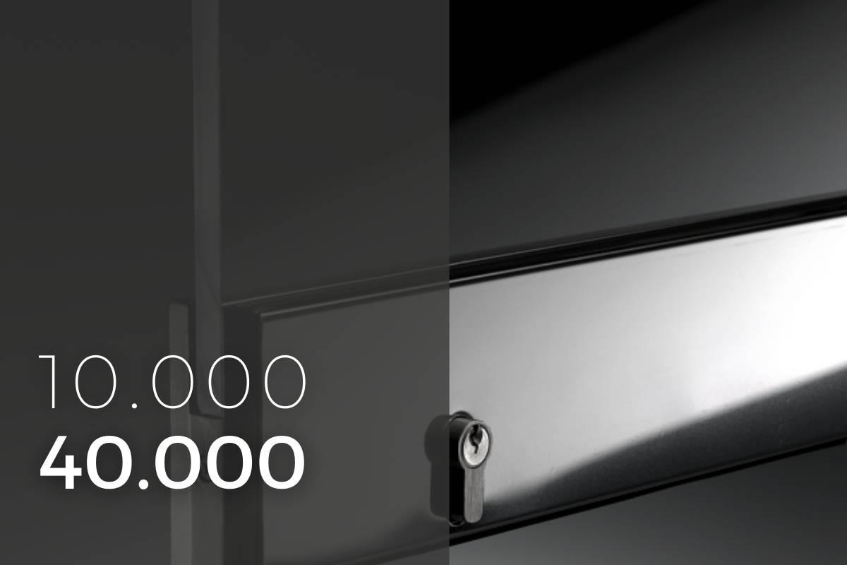 10000 40000 serrature per porte in vetro temprato