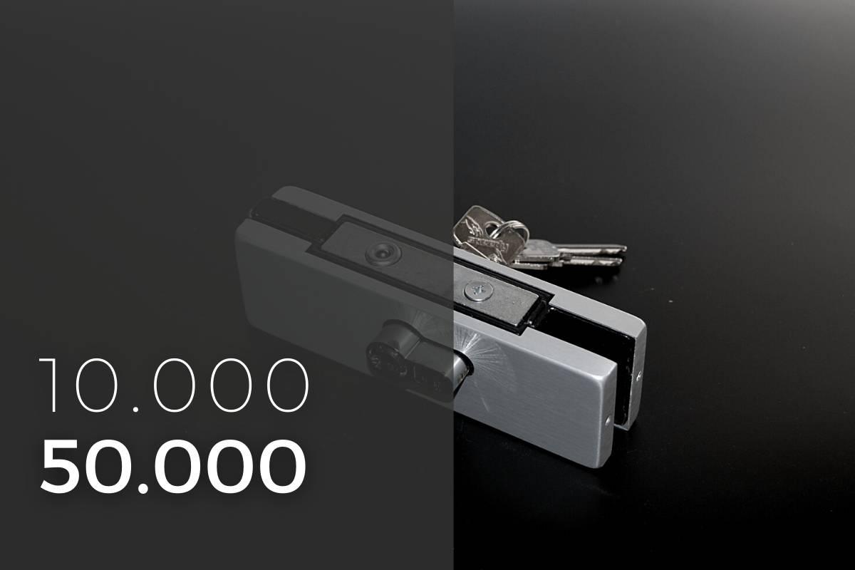 10000 50000 serrature per porte in vetro temprato
