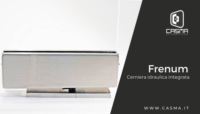 Frenum cerniera idraulica integrata accessori per vetro