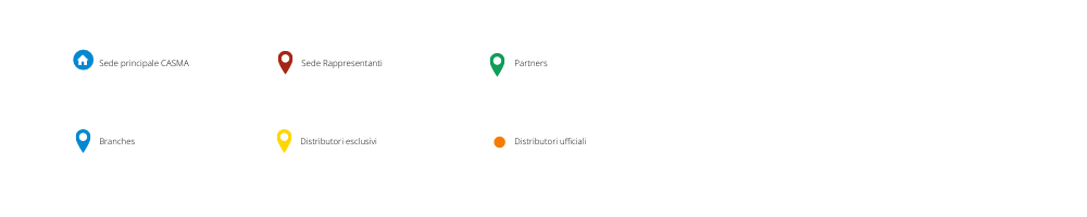 Legenda mappa del network distributivo casma